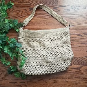 The Sak tan with gold flecks super woven bag